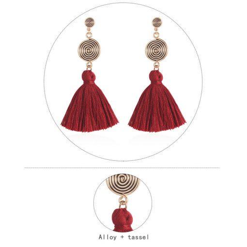Bohemian new popular earrings fashion retro long tassel earrings long multicolor earrings YLX-033