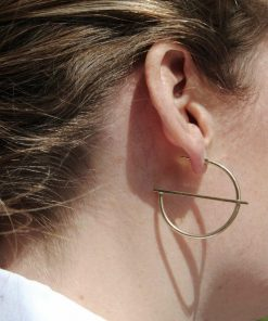 Retro fashion OL wind geometry semicircular ear ring alloy metal C-shaped earrings YLX-115