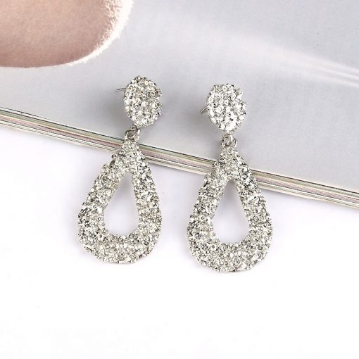 cross-border new drop alloy paint earrings Europe and America exaggerated atmospheric earrings YLX-074