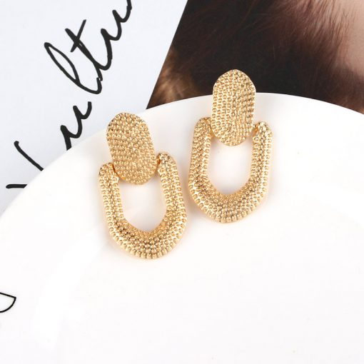 New European and American alloy geometric shape ladies personality earrings jewelry YLX-098