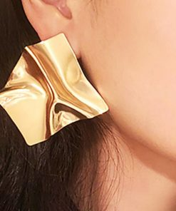 Women's Creative Personality Tide Earrings Geometric Irregular Mirror Temperament Big Stud Earrings YLX-063