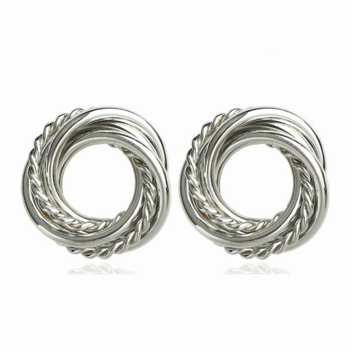 New European and American metal earrings exquisite high-end elegant ear jewelry wholesale YLX-083