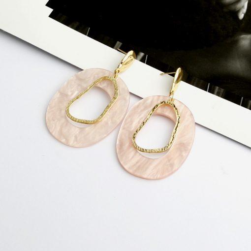 Simple style acrylic resin geometric earrings temperament metal irregular earrings earrings YLX-022