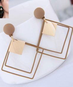 Simple wild long geometric earrings Korean temperament long pendant earrings Japan and South Korea Net red Fashion earrings YLX-021