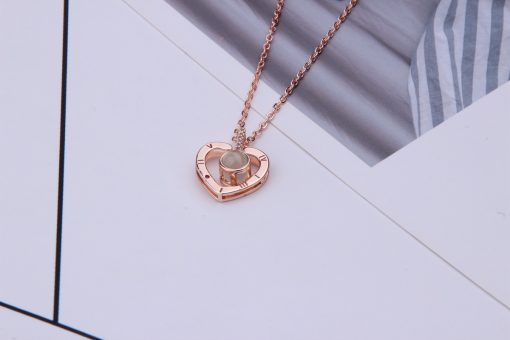 100 languages express I love you necklace 100 kinds of love projection pendant clavicle chain accessories YNS-001