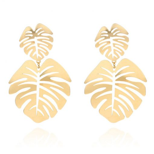 Double leaf big earrings Shaking net red star with the trend of ear jewelry YLX-038
