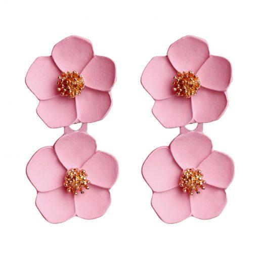 Korean fashion temperament earrings Romantic multicolor flower earrings Mixed color ylx-125