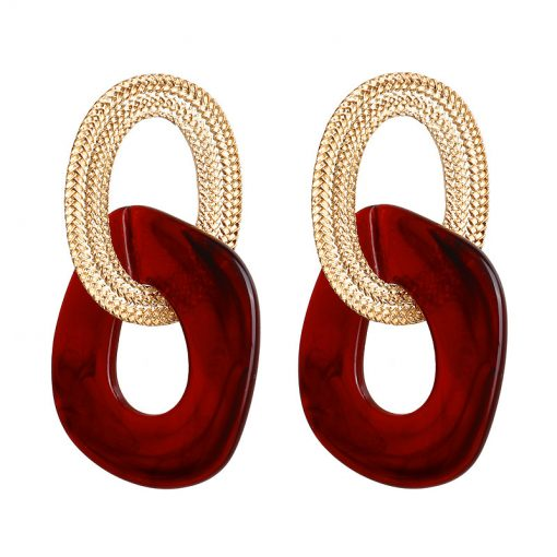 Korean version of exaggerated temperament acrylic earrings women simple wild earrings YLX-131