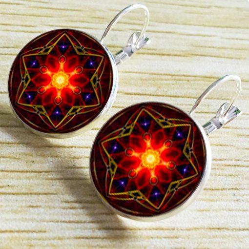 Bohemian ethnic style French style linked Time Gemstone earrings YFT-068