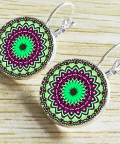Bohemian Retro Time Gem Sun Flower Earrings YFT-045