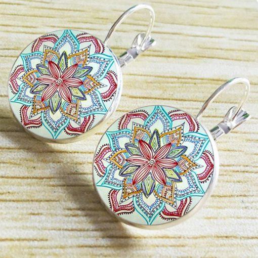 Time Gemstone Henna Glass Earrings Wholesale YFT-040