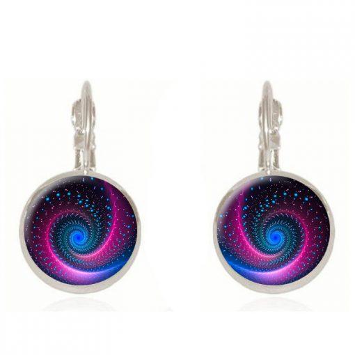 Galaxy Star Time Gem French Earring Hook Earrings YFT-047