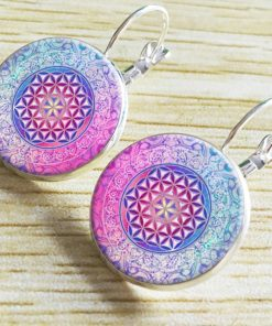 Bohemian retro time gemstone earrings manufacturers wholesale yft-075
