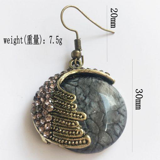 Vintage Bohemian Opal Earrings Handmade Ethnic Earrings Wholesale YFT-110