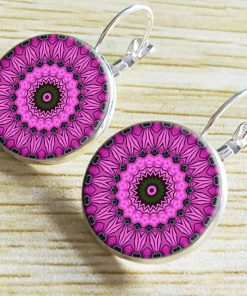 European and American handmade ethnic ear hooks Retro time gemstone earrings YFT-056