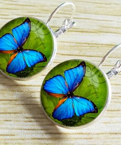 Vintage Time Gemstone Butterfly Earrings New Hot Sale French Hook YFT-058