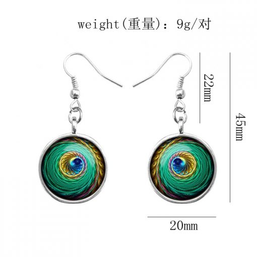 Colorful Retro Time Gem Fashion Lady Earrings YFT-107