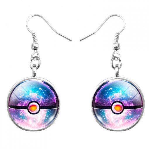 Best selling Pokemon Pokemon Time Gemstone Earrings Mixed Batch YFT-078