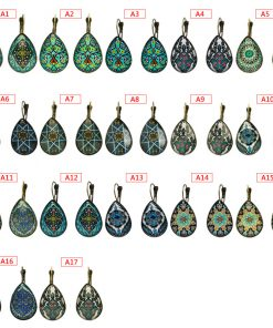 French ear hook simple print drop shape exquisite pattern earrings jewelry wholesale mixed batch YFT-111