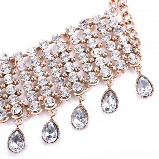 European and American jewelry vintage gem chain versatile sweater clavicle neck chain YQL-003