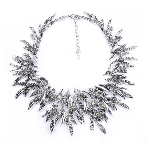 Retro pop plating exaggerated short clavicle necklace wholesale YQL-007
