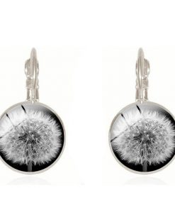 Dandelion retro time gemstone earrings foreign trade jewelry manufacturers wholesale French hook YFT-079