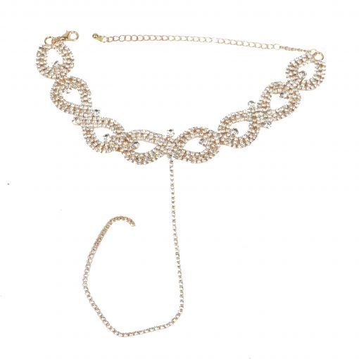 New European and American Exaggerated Necklace Fashion Full Diamond Flower Necklace Collar Alloy Retro Female Necklace Wholesale ylx-133