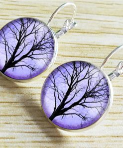 Life tree gemstone earrings European and American fashion jewelry YFT-131