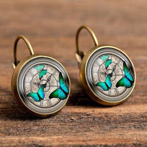 Best selling factory direct fashion earrings 18mm gemstone earrings YFT-130