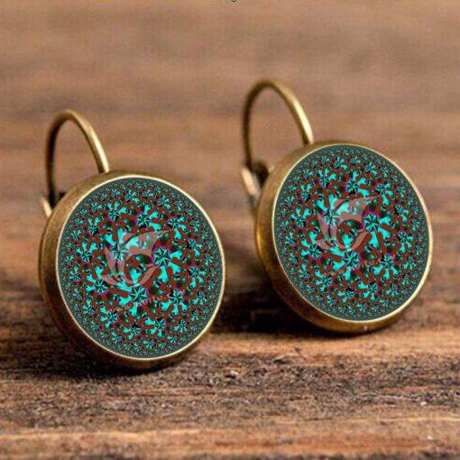 Hot Small Flower Style French Hook Time Gemstone Earrings YFT-069