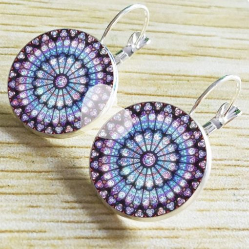 Bohemian ethnic style French hook Time Gemstone earrings YFT-062