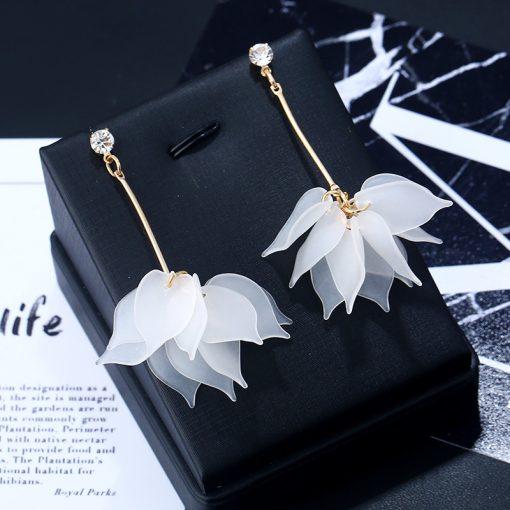Creative Scrub Multi-layer Petal Stud Earrings Japan and South Korea Exaggerated Personality Tassel Earrings Jewelry Wholesale YLX-031