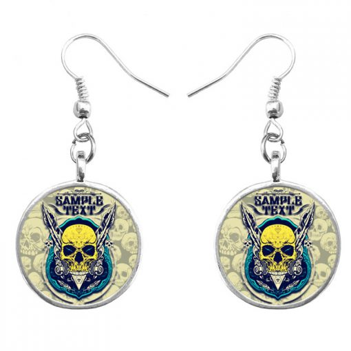 Trend skull earrings Fashion hip hop culture Halloween gifts mixed batch yft-127