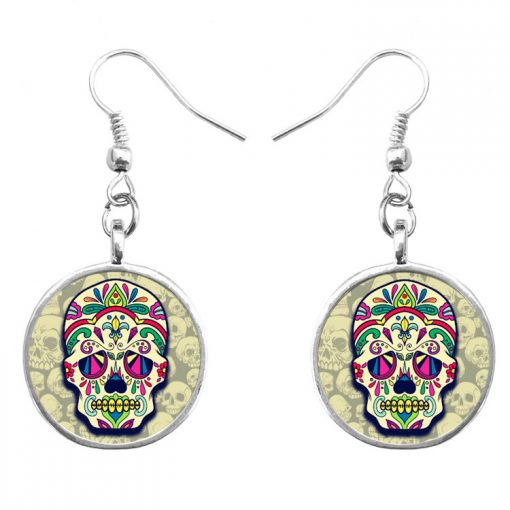 Trend skull earrings Fashion hip hop culture Halloween gifts mixed batch yft-123