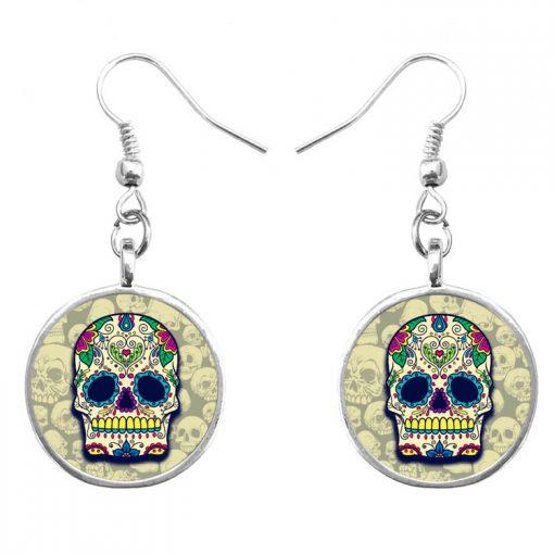 Trend Skull Earrings Fashion Hip Hop Culture Halloween Gift Mixed Batch yft-125