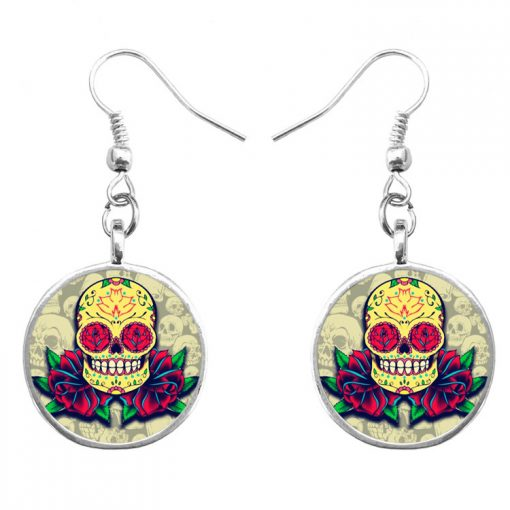 Trend skull earrings Fashion hip hop culture Halloween gifts mixed batch yft-124