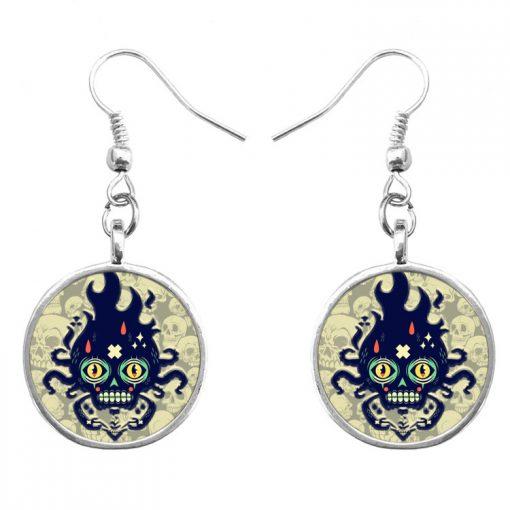Trend skull earrings Fashion hip hop culture Halloween gifts mixed batch yft-124