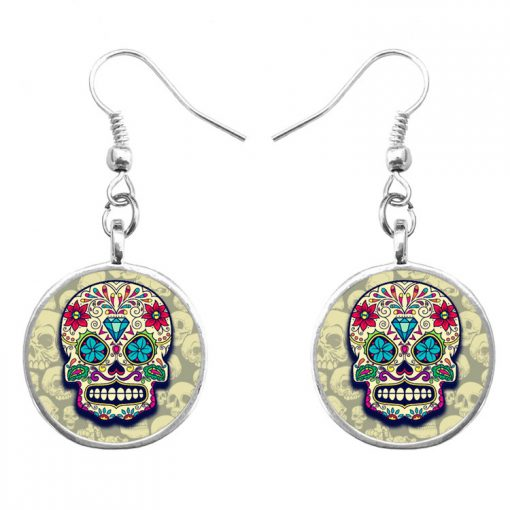 Trend skull earrings Fashion hip hop culture Halloween gifts mixed batch yft-126