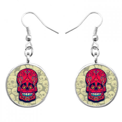 Trend Skull Earrings Fashion Hip Hop Culture Halloween Gift Mixed Batch yft-125