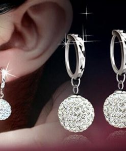 Shamballa full rhinestone earrings silver plated earrings princess ball earrings temperament female earrings factory wholesale YLX-066