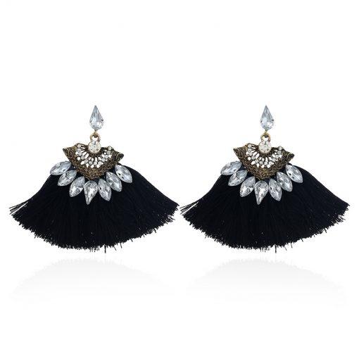 Tassel earrings Europe and America hot sale diamond earrings national wind earrings jewelry factory direct YLX-060