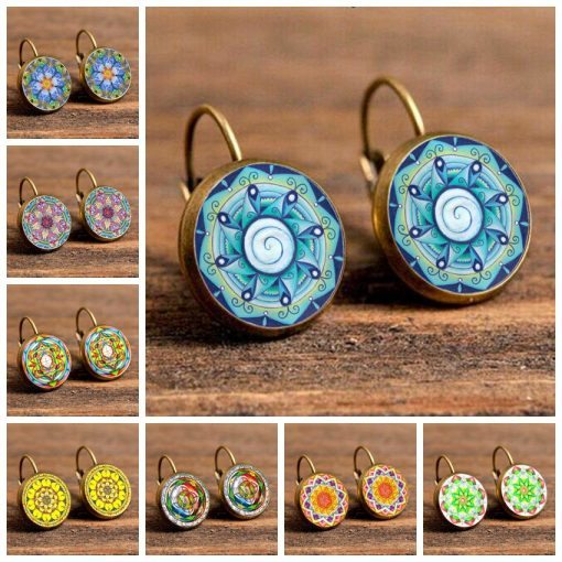 Time Gemstone Earrings Yoga Religious Earrings Jewelry Mixed Batch YFT-119