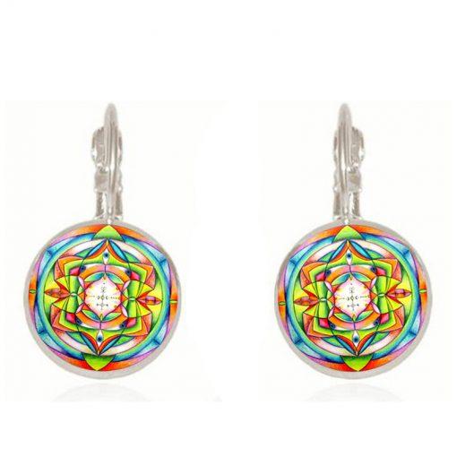 Time Gemstone Earrings Yoga Religious Earrings Jewelry Mixed Batch YFT-119