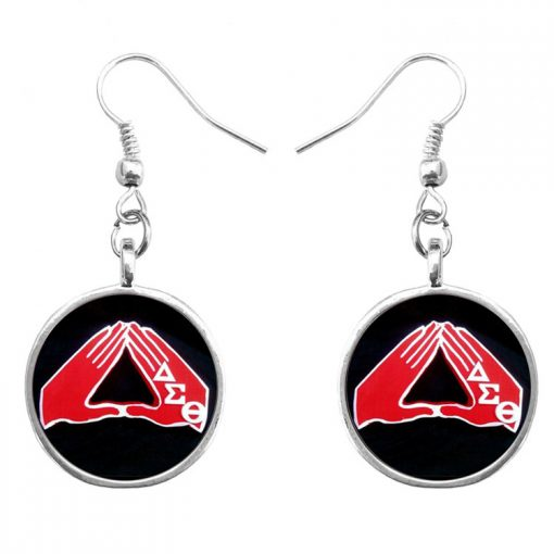 Delta sigma theta Δ Sigma time gem French ear hook earrings manufacturers supply YFT-077