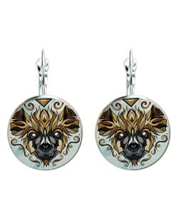Hot popular new Andreas Preis animal illustration time gemstone French earrings YFT-064