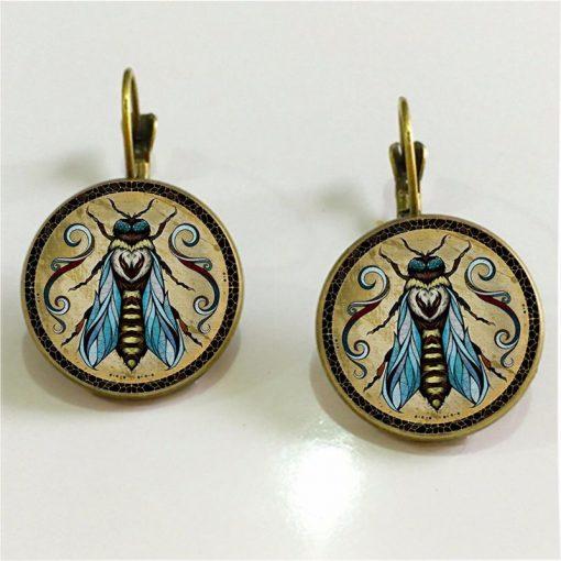 ot popular new Andreas Preis animal illustration time gemstone French earrings YFT-066
