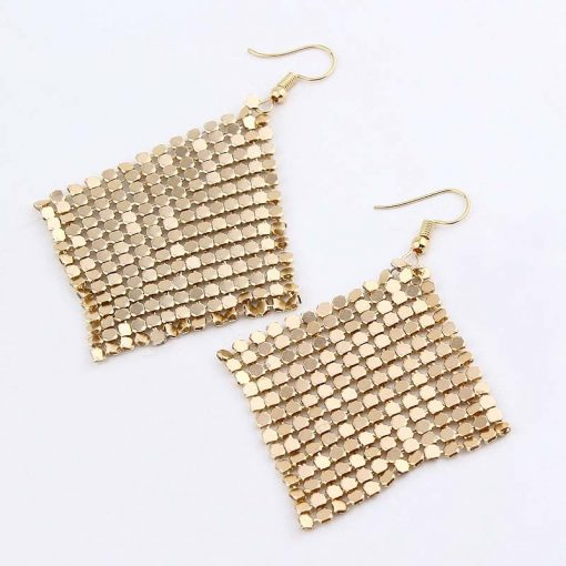 European and American fashion jewelry Fashion small square long earrings bride evening dress jewelry accessories new YLX-065