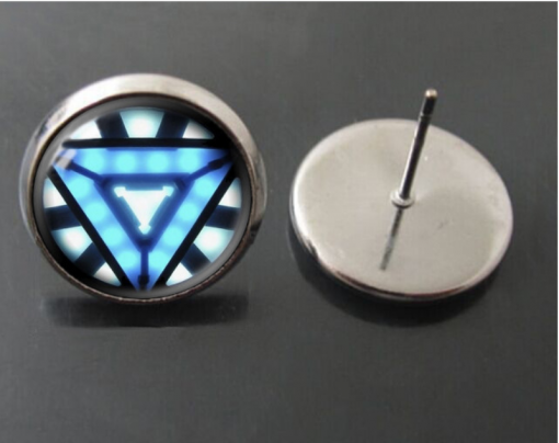 Avengers Iron Man Time Gemstone Stud Earrings YFT-055