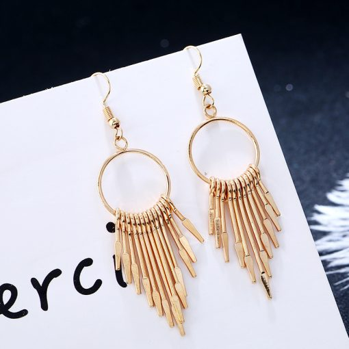 Exquisite Korean fashion sweet and simple fringed temperament personality earrings YLX-062