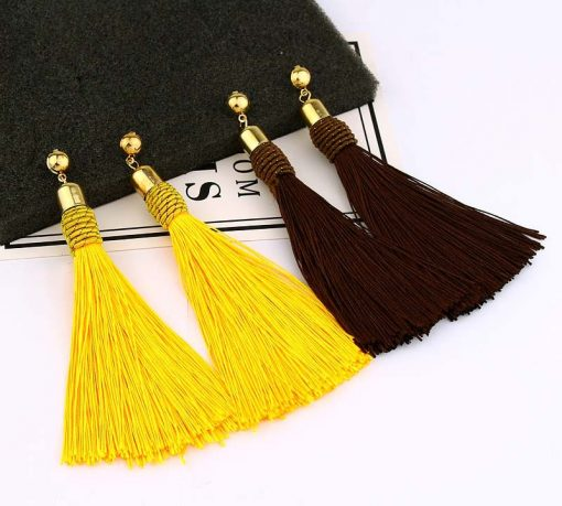 European and American new women fashion bohemian long tassel earrings YLX-052